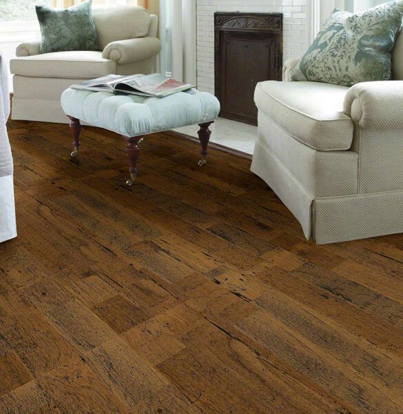 Shaw distressed hardwood flooring | Magic Carpets