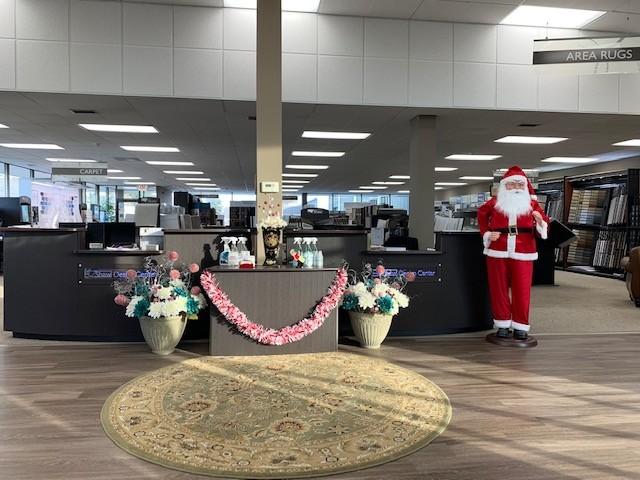 Santa in our Showroom| Magic Carpets