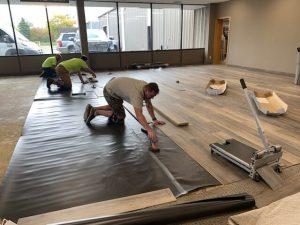 Commercial flooring installation | Magic Carpets
